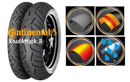 Continental Road Attack 3 sportrehvi